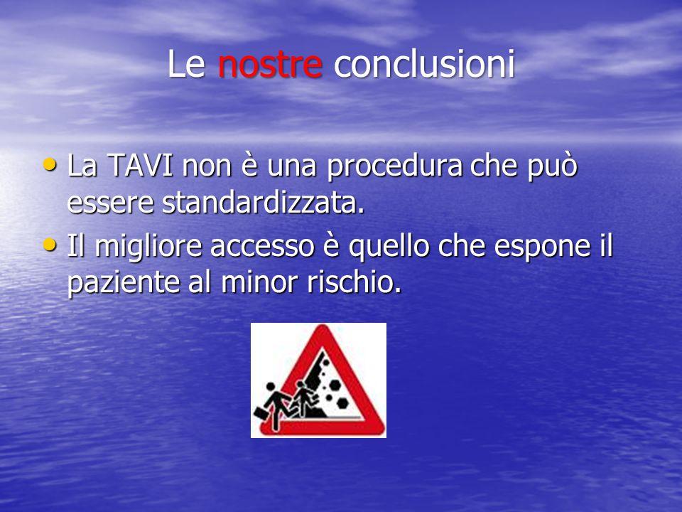 La TAVI non è una procedura che può essere standardizzata.