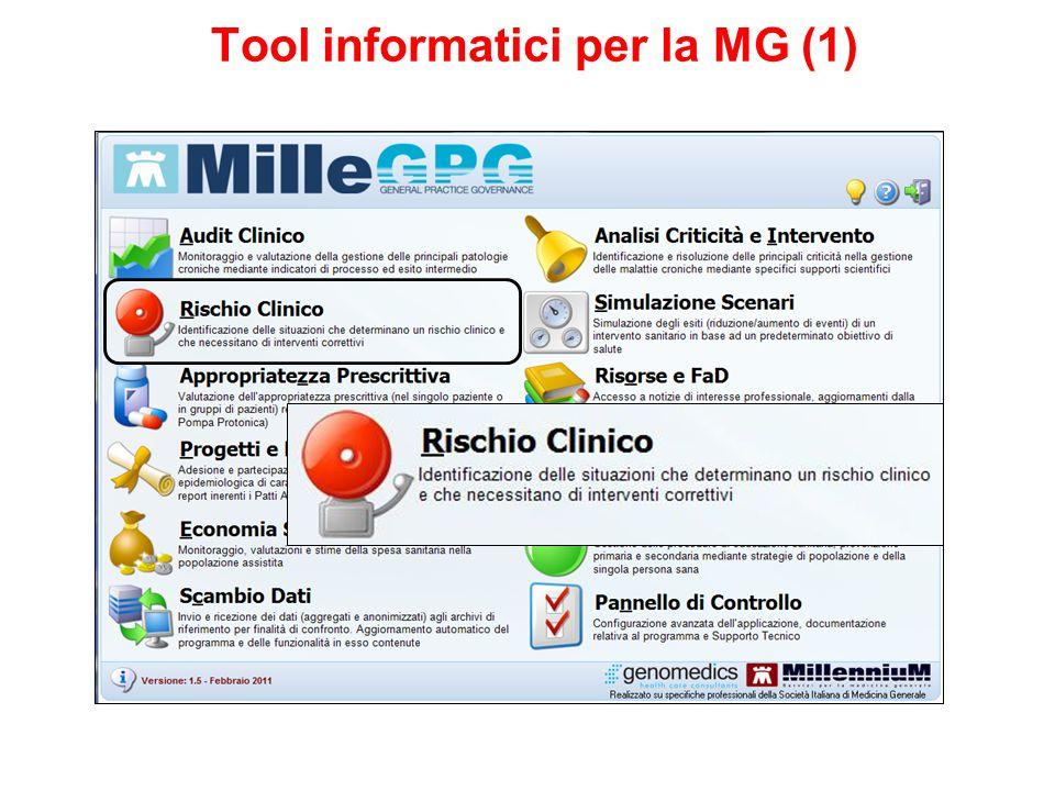 Rischio clinico: prevenzione e appropriatezza Tool informatici per la MG (1)