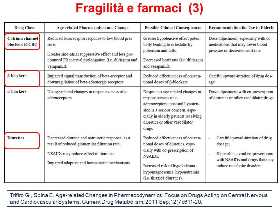 Fragilità e farmaci (3) Trifirò G., Spina E.