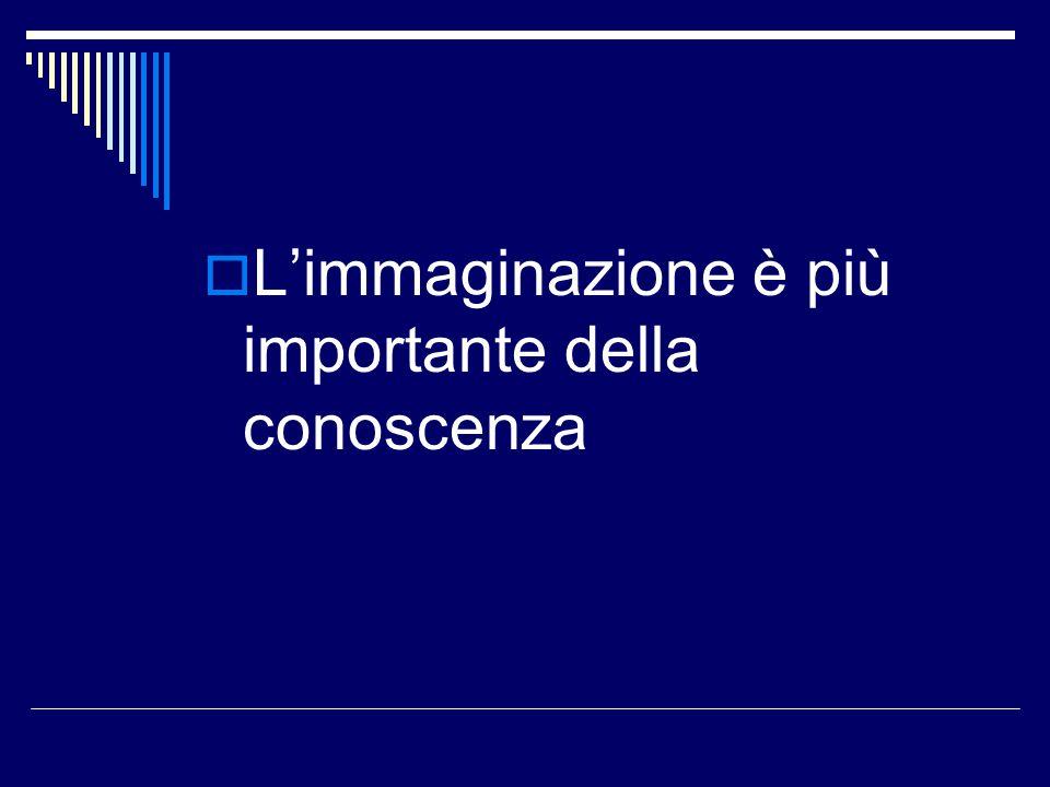  L'immaginazione è più importante della conoscenza