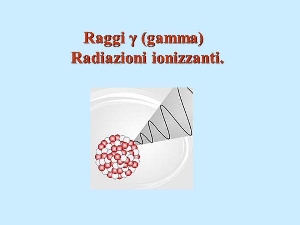 Raggi γ (gamma) Raggi γ (gamma) Radiazioni ionizzanti.