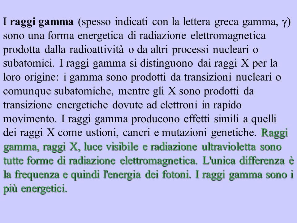 Raggi gamma, raggi X, luce visibile e radiazione ultravioletta sono tutte forme di radiazione elettromagnetica. L'unica differenza è la frequenza e qu