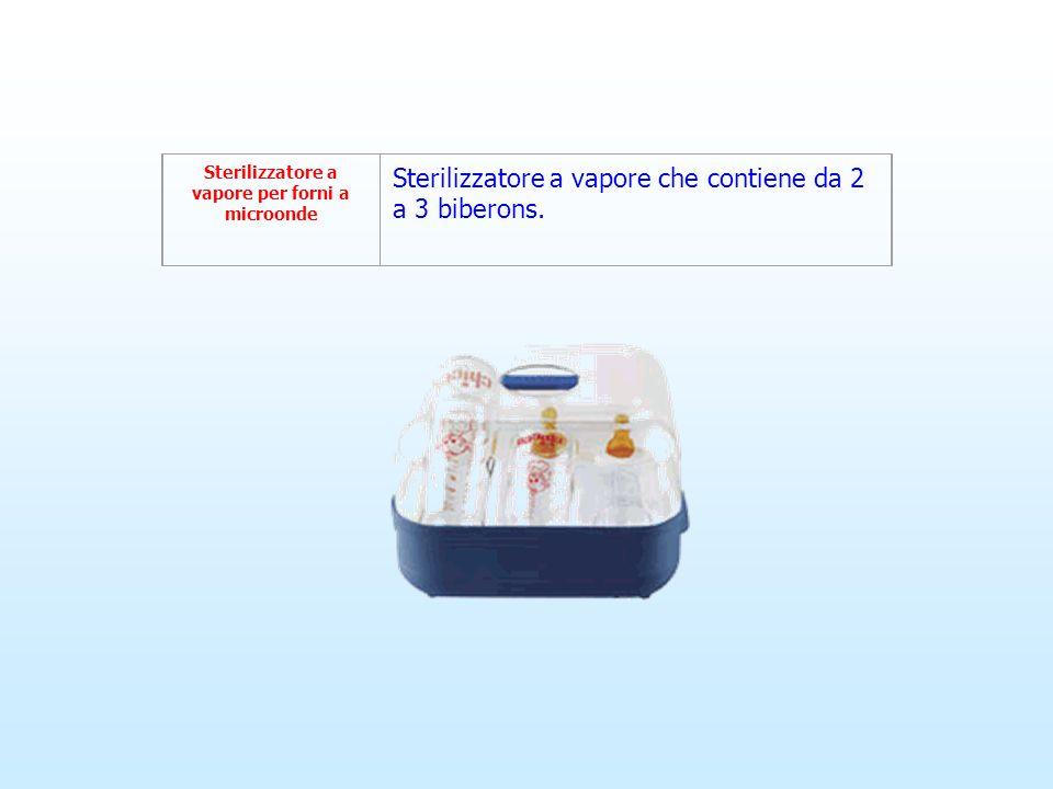 Sterilizzatore a vapore per forni a microonde Sterilizzatore a vapore che contiene da 2 a 3 biberons.