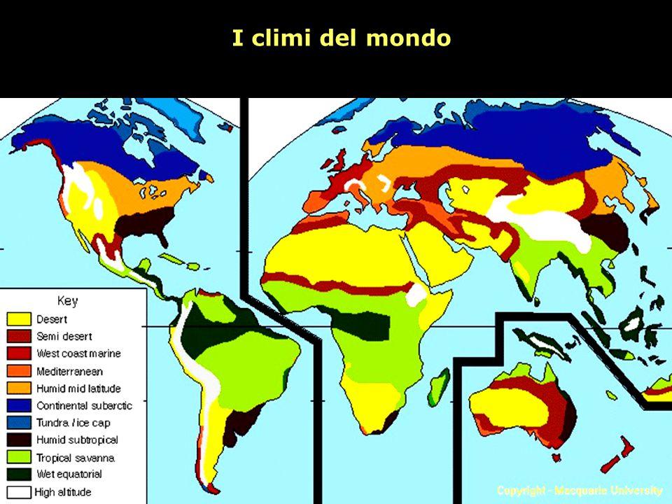 I climi del mondo