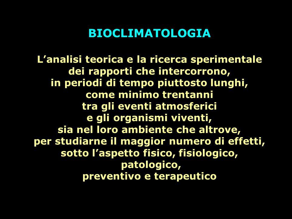Il padre della Bioclimatologia Medica è senza dubbio Ippocrate di Kos vissuto tra il V° ed il IV° secolo A.C., fondatore della celebre Scuola Ippocratica, detto il padre della medicina moderna.