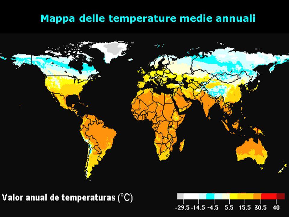 Mappa delle temperature medie annuali