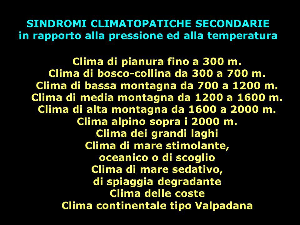 Clima di pianura fino a 300 m. Clima di bosco-collina da 300 a 700 m. Clima di bassa montagna da 700 a 1200 m. Clima di media montagna da 1200 a 1600