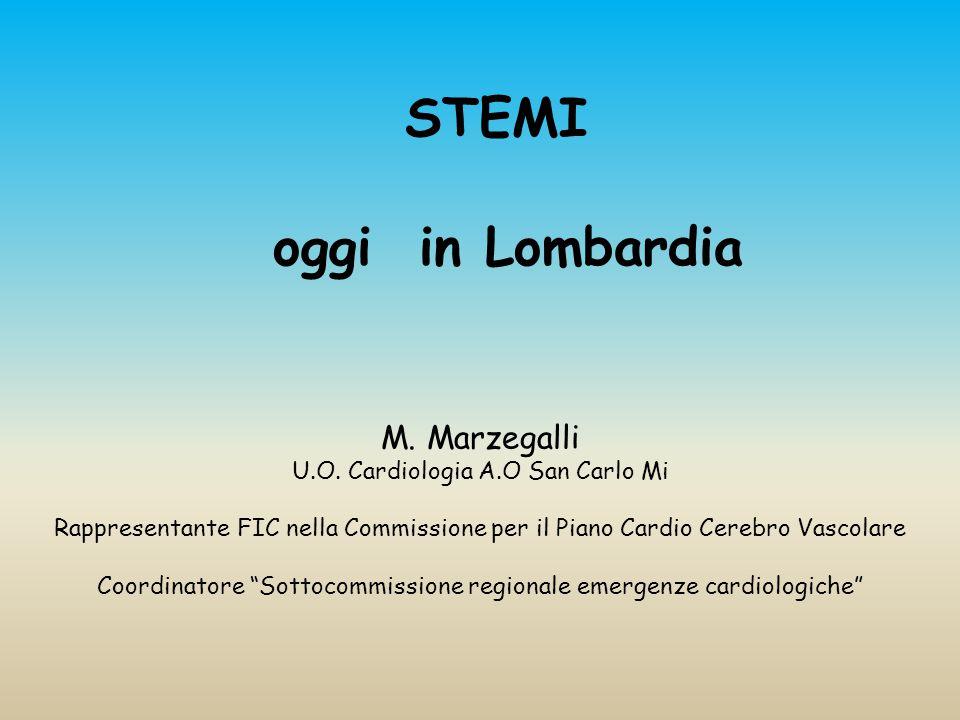 STEMI oggi in Lombardia M.Marzegalli U.O.