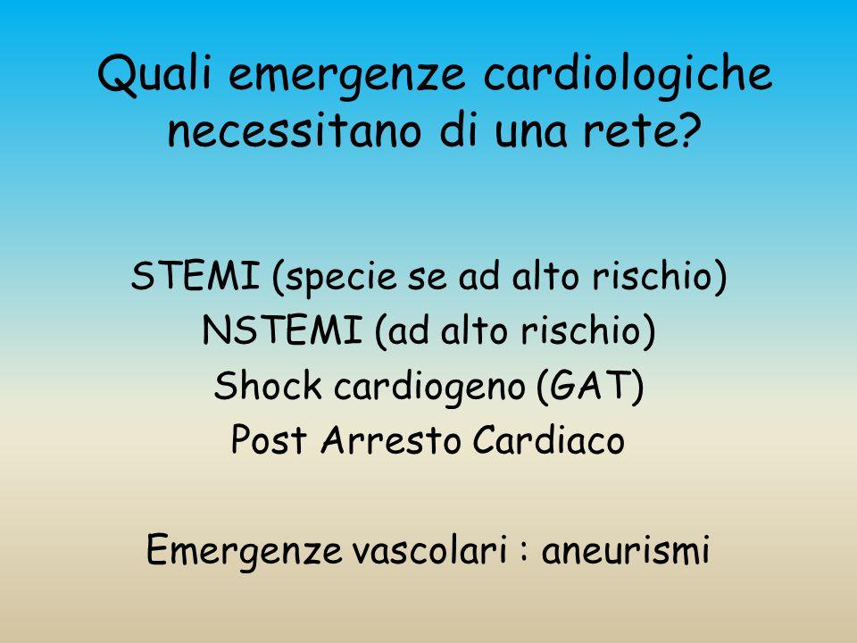 Quali emergenze cardiologiche necessitano di una rete.