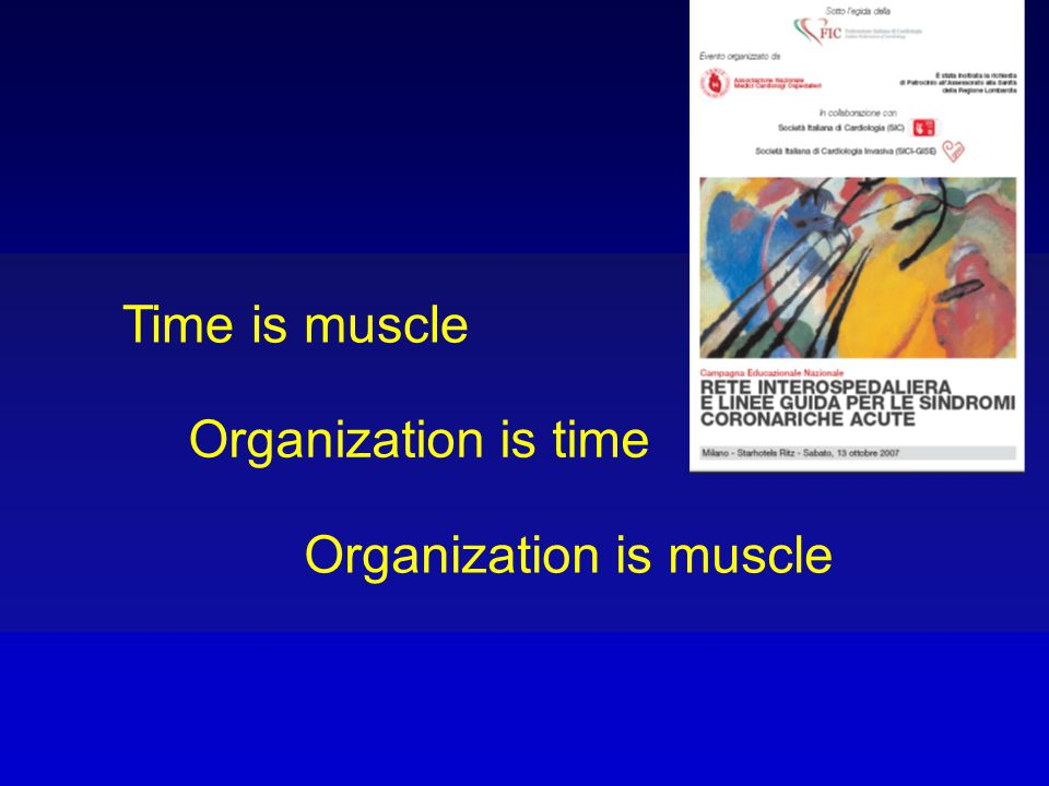 Time is muscle Organization is time Organization is muscle