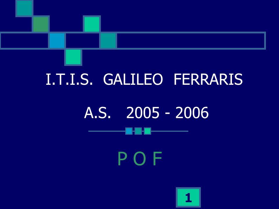 1 I.T.I.S. GALILEO FERRARIS A.S. 2005 - 2006 P O F
