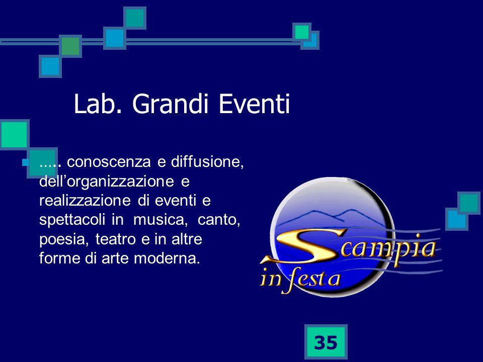 35 Lab.Grandi Eventi …..