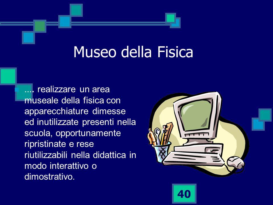 40 Museo della Fisica ….