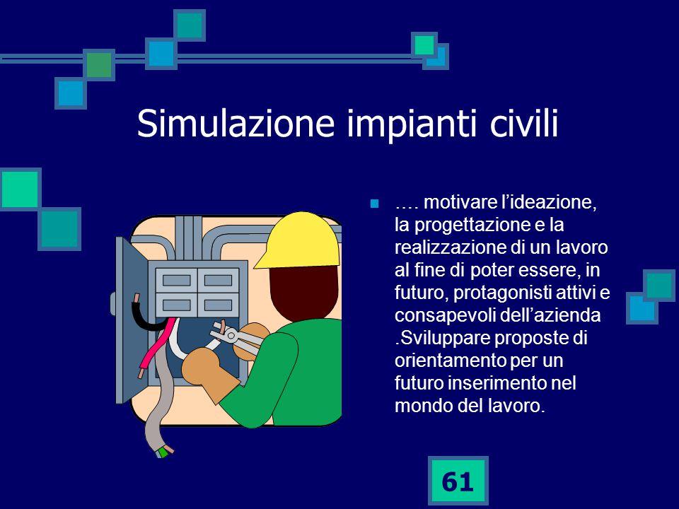 61 Simulazione impianti civili ….