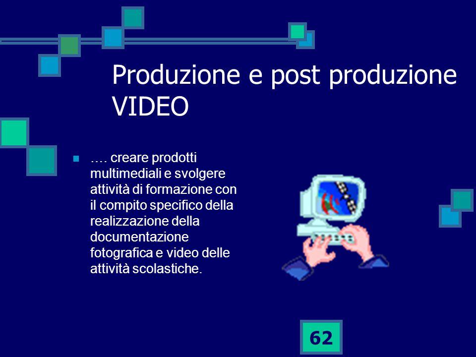 62 Produzione e post produzione VIDEO ….