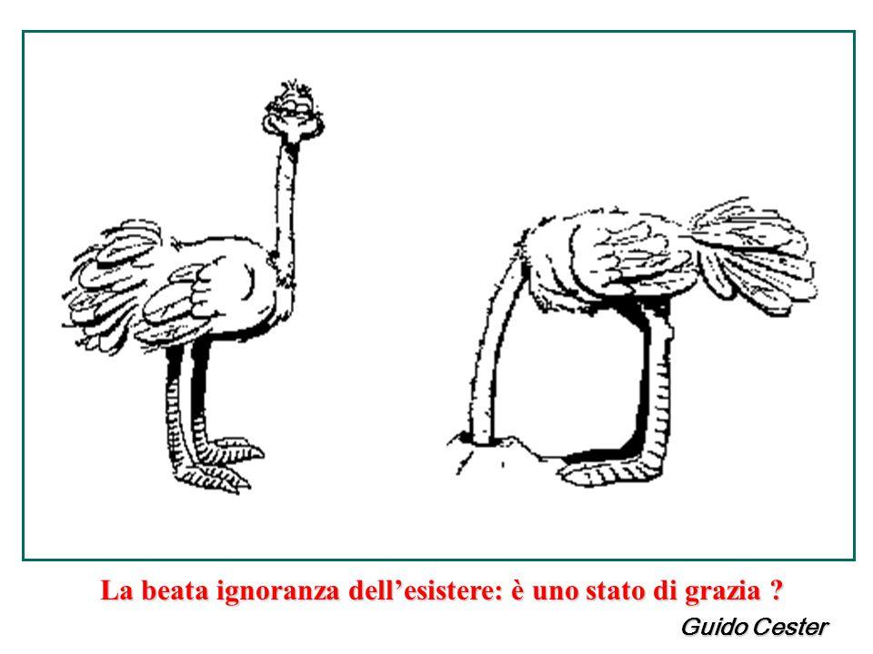 La beata ignoranza dell'esistere: è uno stato di grazia ? Guido Cester