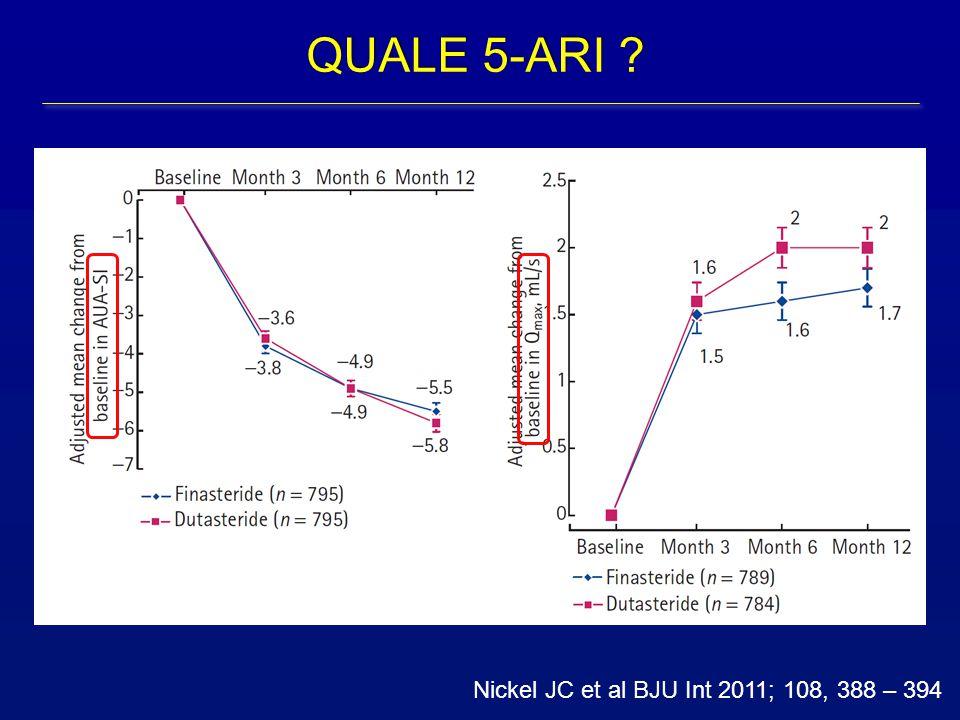 Nickel JC et al BJU Int 2011; 108, 388 – 394 QUALE 5-ARI ?