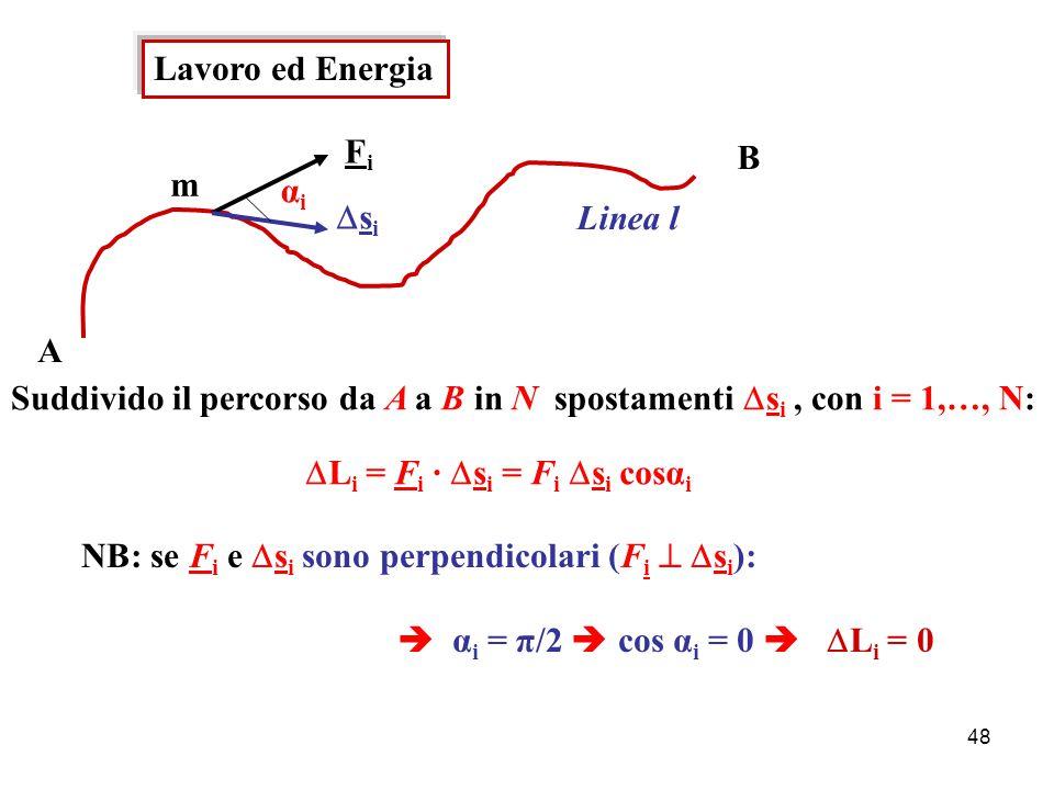 47 Per es.: sfera di raggio R in fluido con viscosita' η: β = 6 π R η  η = η(T) : - aumenta all'aumentare di T nei gas (dipende dagli urti tra le molecole) - diminuisce all'aumentare di T nei liquidi (dipende dalle forze di coesione tra le molecole)  [η] = F T L -2 kg/m s