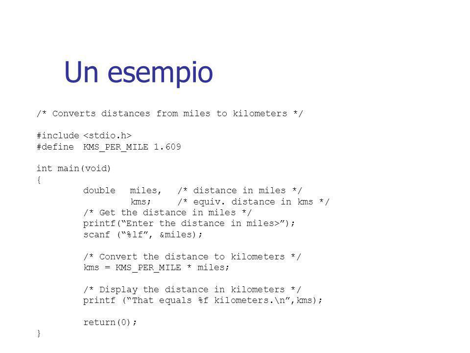Direttive al preprocessore Una direttiva al preprocessore e' un comando per il preprocessore C.