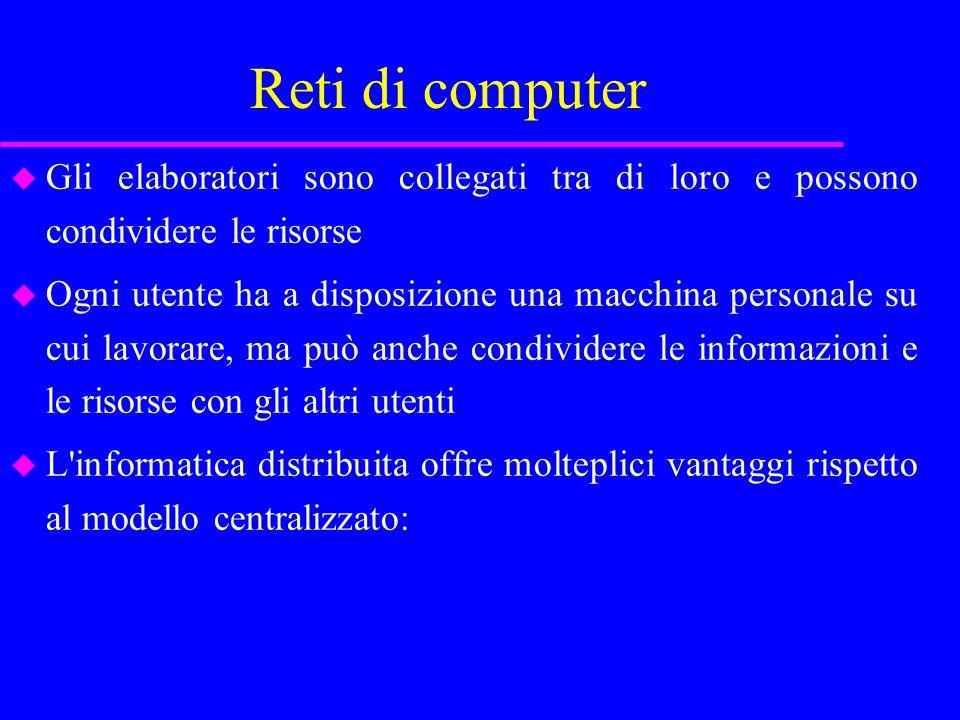 Reti di computer –Si ha un sistema più flessibile.