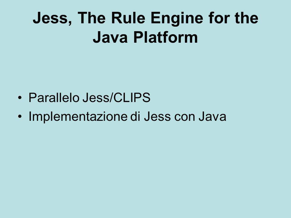 Parallelo Jess/CLIPS Differenze nell'utilizzo dei moduli Allowed-value Interfaccia Grafica