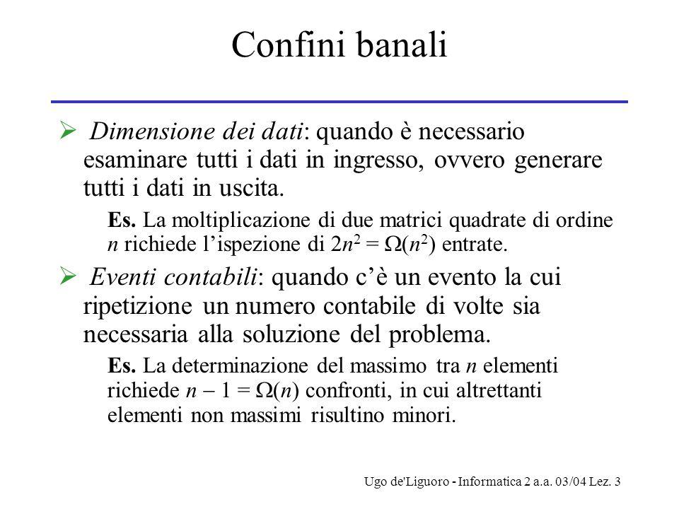 Ugo de Liguoro - Informatica 2 a.a. 03/04 Lez.