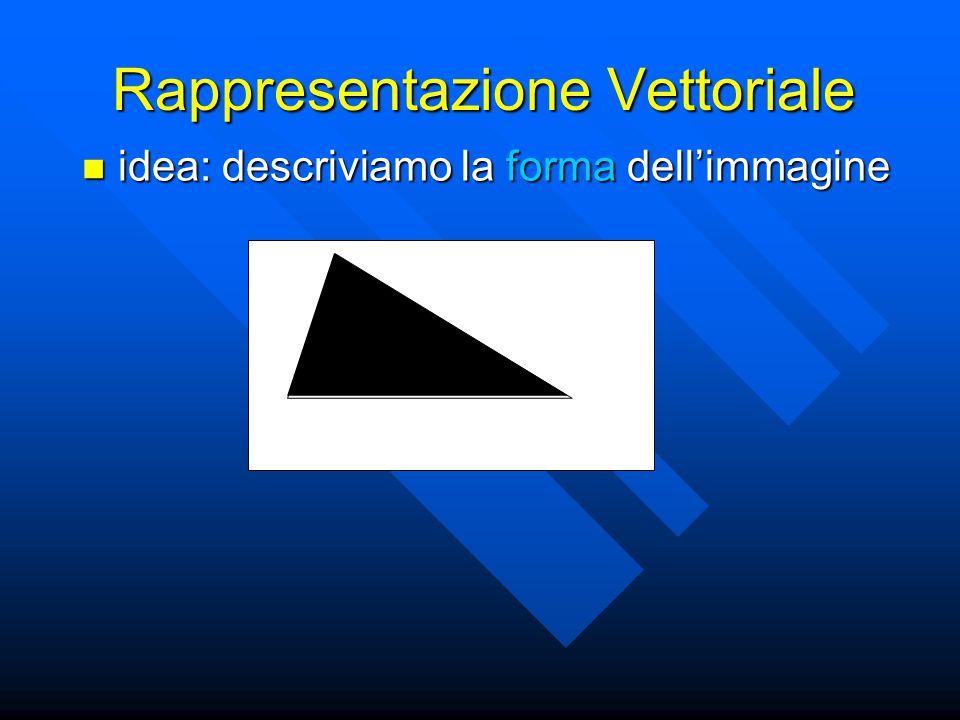 Rappresentazione Vettoriale idea: descriviamo la forma dell'immagine idea: descriviamo la forma dell'immagine