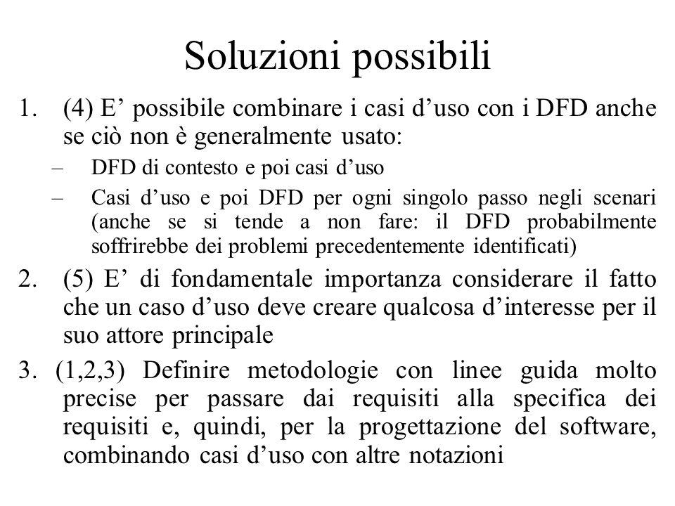 Soluzioni possibili 1.