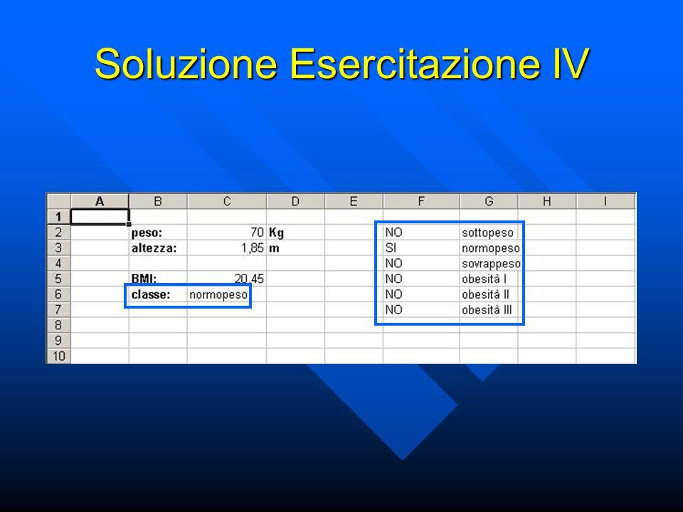 Soluzione Esercitazione IV