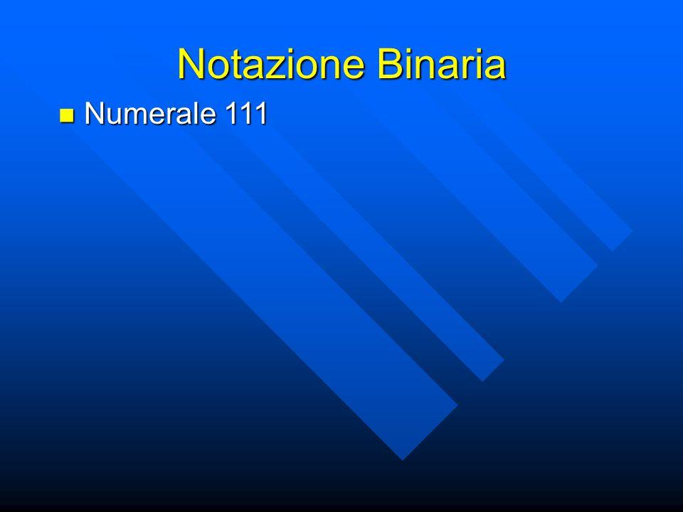 Notazione Binaria Numerale 111 Numerale 111