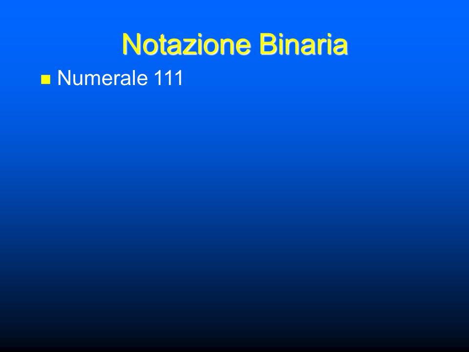 Notazione Binaria Numerale 111