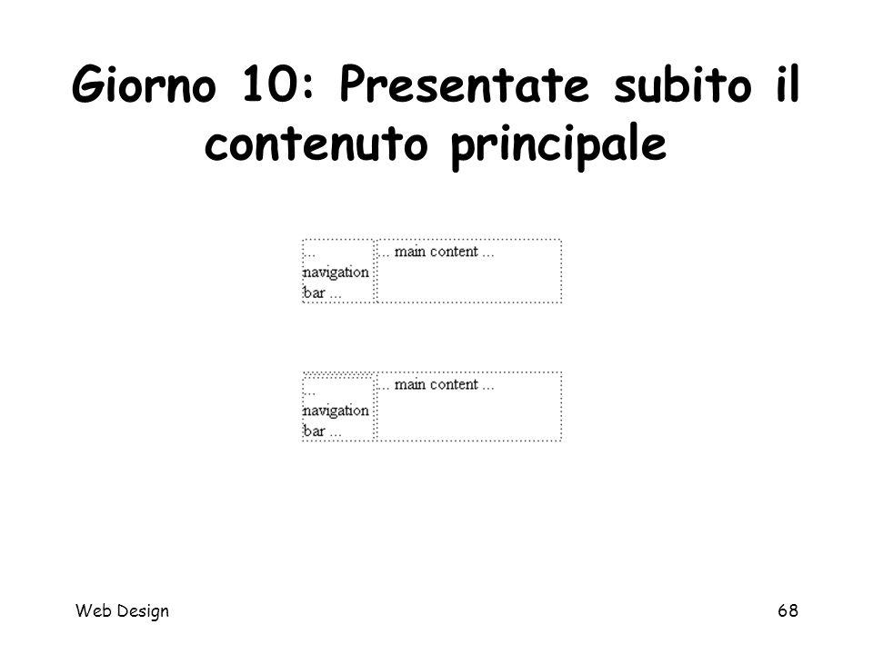 Web Design68 Giorno 10: Presentate subito il contenuto principale