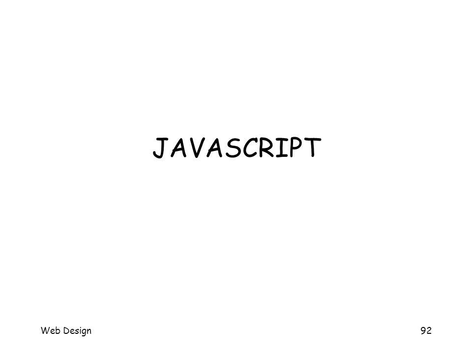 Web Design92 JAVASCRIPT