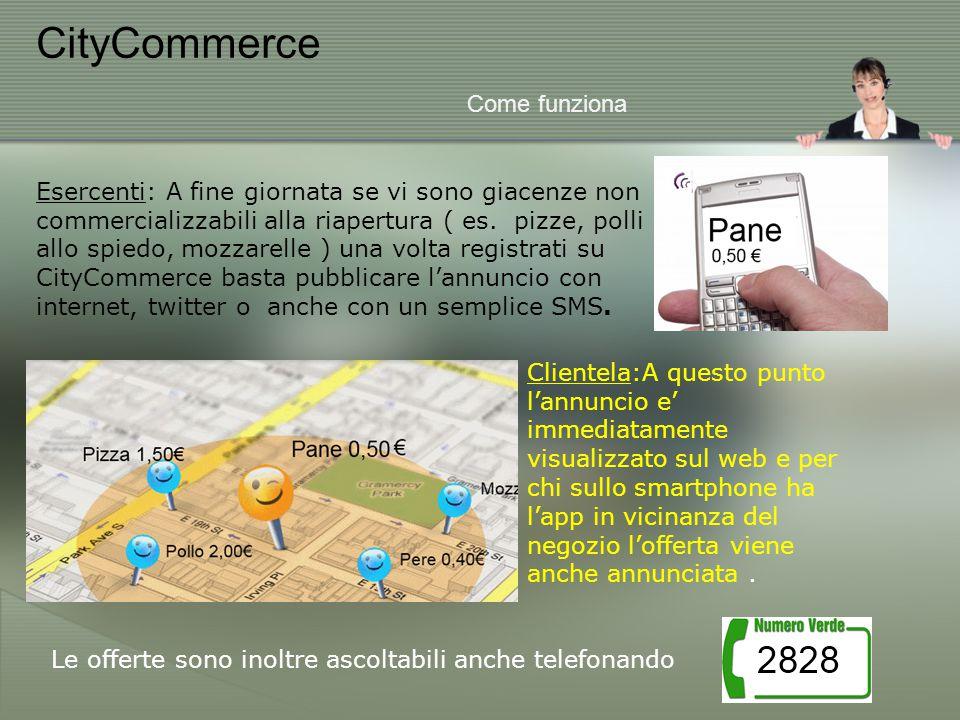 CityCommerce Come funziona Esercenti: A fine giornata se vi sono giacenze non commercializzabili alla riapertura ( es.
