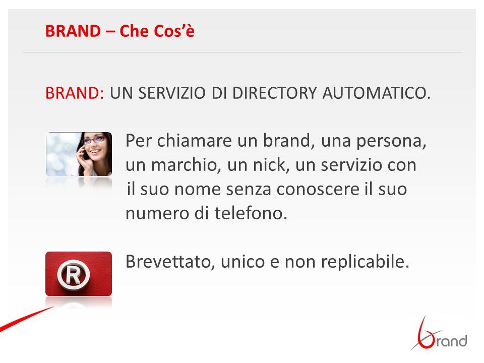 BRAND: UN SERVIZIO DI DIRECTORY AUTOMATICO. Per chiamare un brand, una persona, un marchio, un nick, un servizio con il suo nome senza conoscere il su