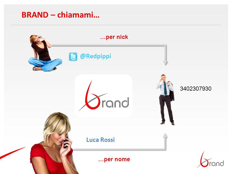 BRAND – chiamami… @Redpippi Luca Rossi 3402307930 …per nome …per nick