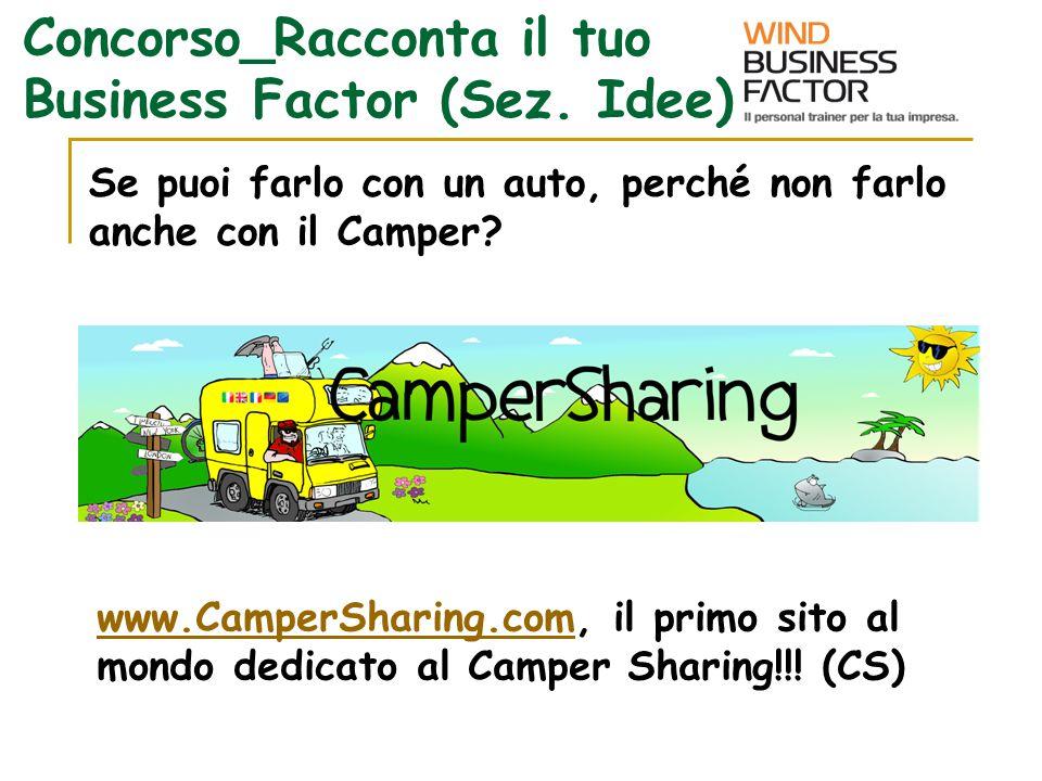 Se puoi farlo con un auto, perché non farlo anche con il Camper? www.CamperSharing.comwww.CamperSharing.com, il primo sito al mondo dedicato al Camper