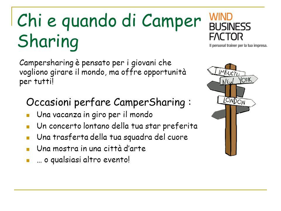 Chi e quando di Camper Sharing Occasioni perfare CamperSharing : Una vacanza in giro per il mondo Un concerto lontano della tua star preferita Una tra