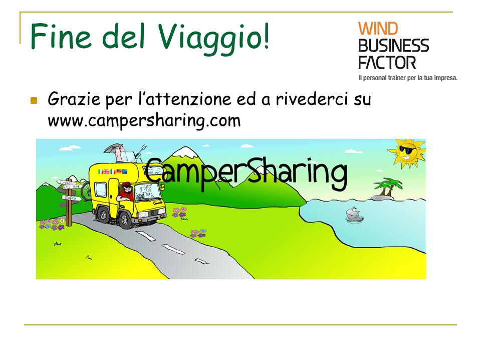 Fine del Viaggio! Grazie per l'attenzione ed a rivederci su www.campersharing.com