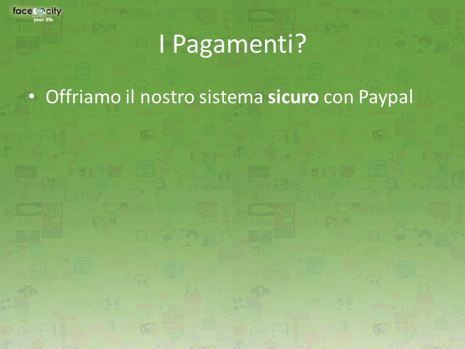 Offriamo il nostro sistema sicuro con Paypal