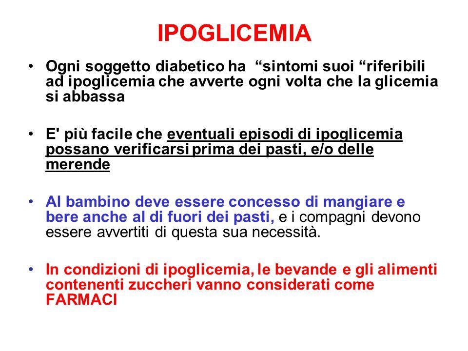 """IPOGLICEMIA Ogni soggetto diabetico ha """"sintomi suoi """"riferibili ad ipoglicemia che avverte ogni volta che la glicemia si abbassa E' più facile che ev"""