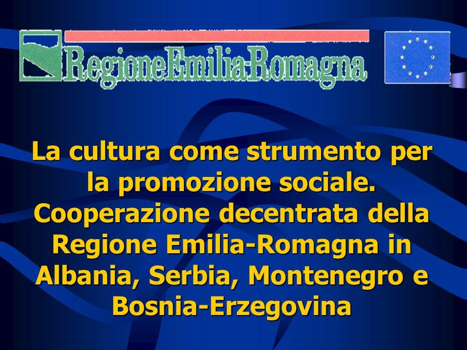 La cultura come strumento per la promozione sociale.