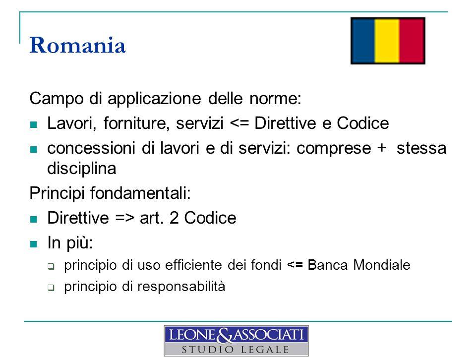 Campo di applicazione delle norme: Lavori, forniture, servizi <= Direttive e Codice concessioni di lavori e di servizi: comprese + stessa disciplina Principi fondamentali: Direttive => art.