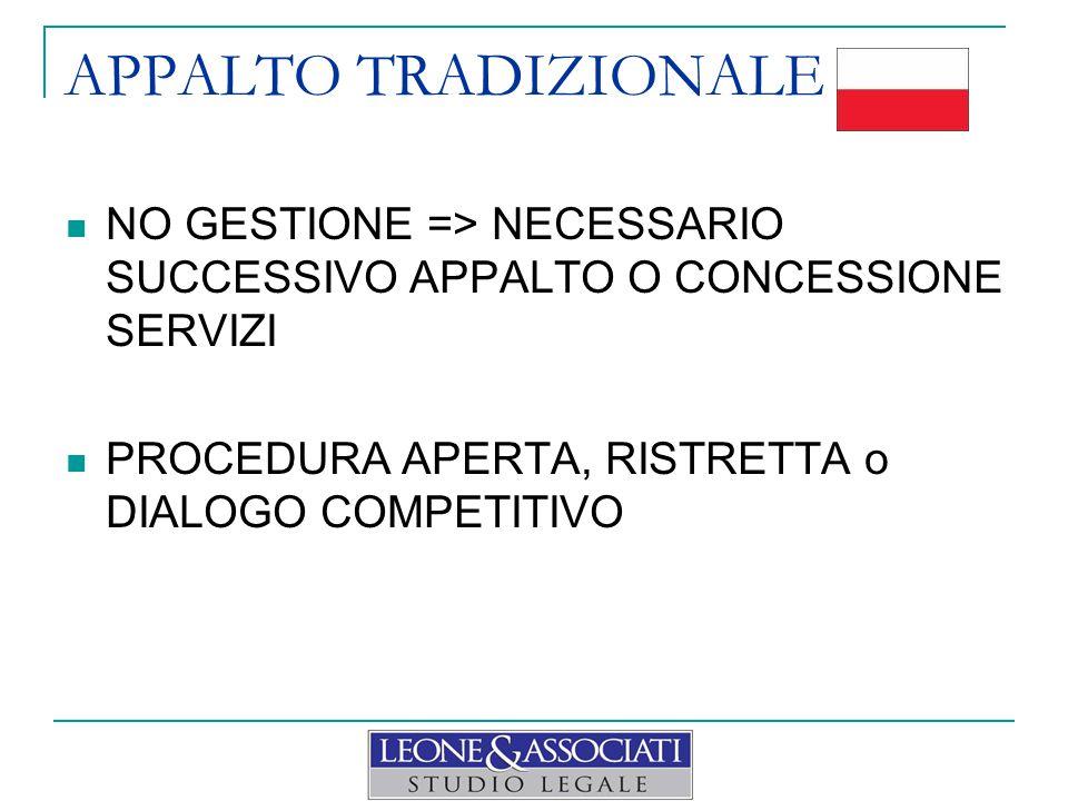 CONCESSIONE LAVORI MINOR ENFASI SU SERVIZIO FLESSIBILITÀ v. NEGOZIAZIONE