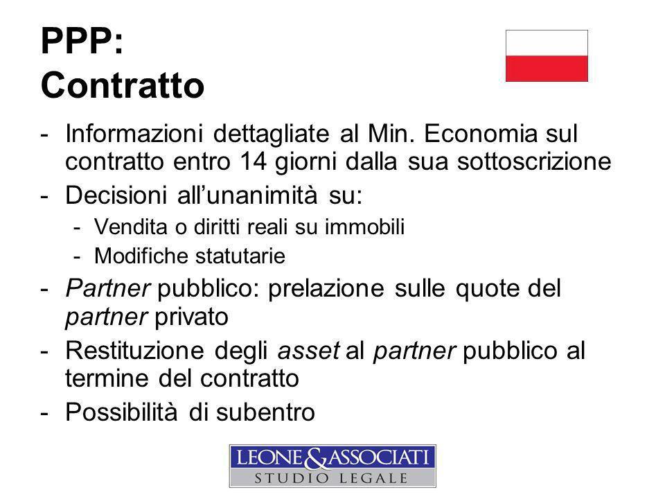 PPP: Contratto -Informazioni dettagliate al Min.