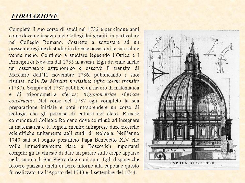 De viribus vivis, Roma 1745.De lumine, I et II, Roma 1749.