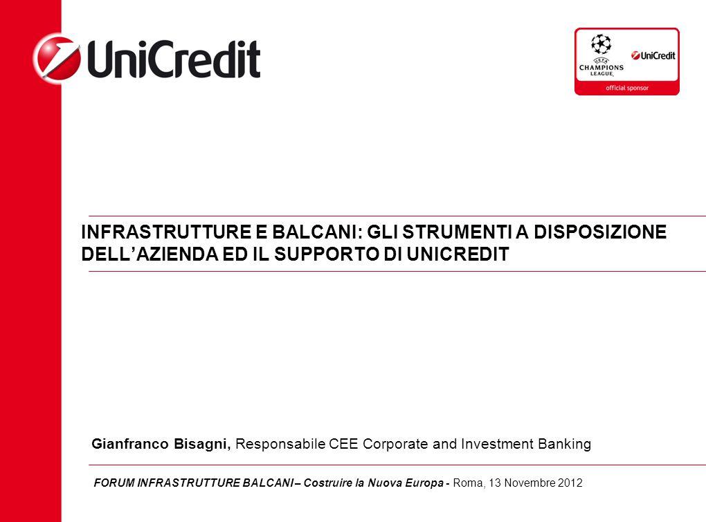 2 Agenda Lo scenario Strumenti a supporto e scenari di mercato: Finanziamenti corporate, Fondi UE, Project finance Il supporto di Unicredit in Europa dell'Est e nei Balcani