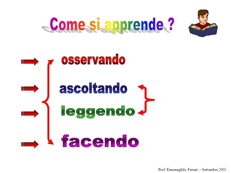 IMPARIAMO: Prof. Ermenegildo Ferrari – Settembre 2005
