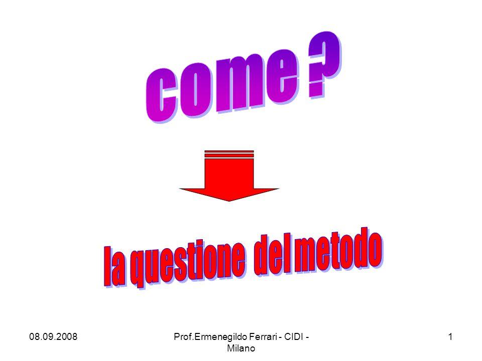 08.09.2008Prof.Ermenegildo Ferrari - CIDI - Milano 1