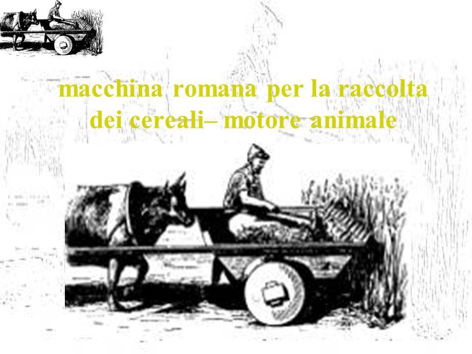 macchina romana per la raccolta dei cereali– motore animale
